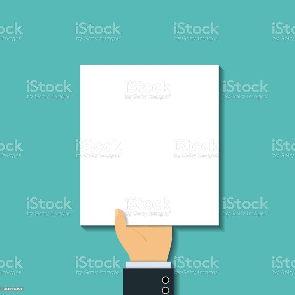 blank sheet. vector art illustration