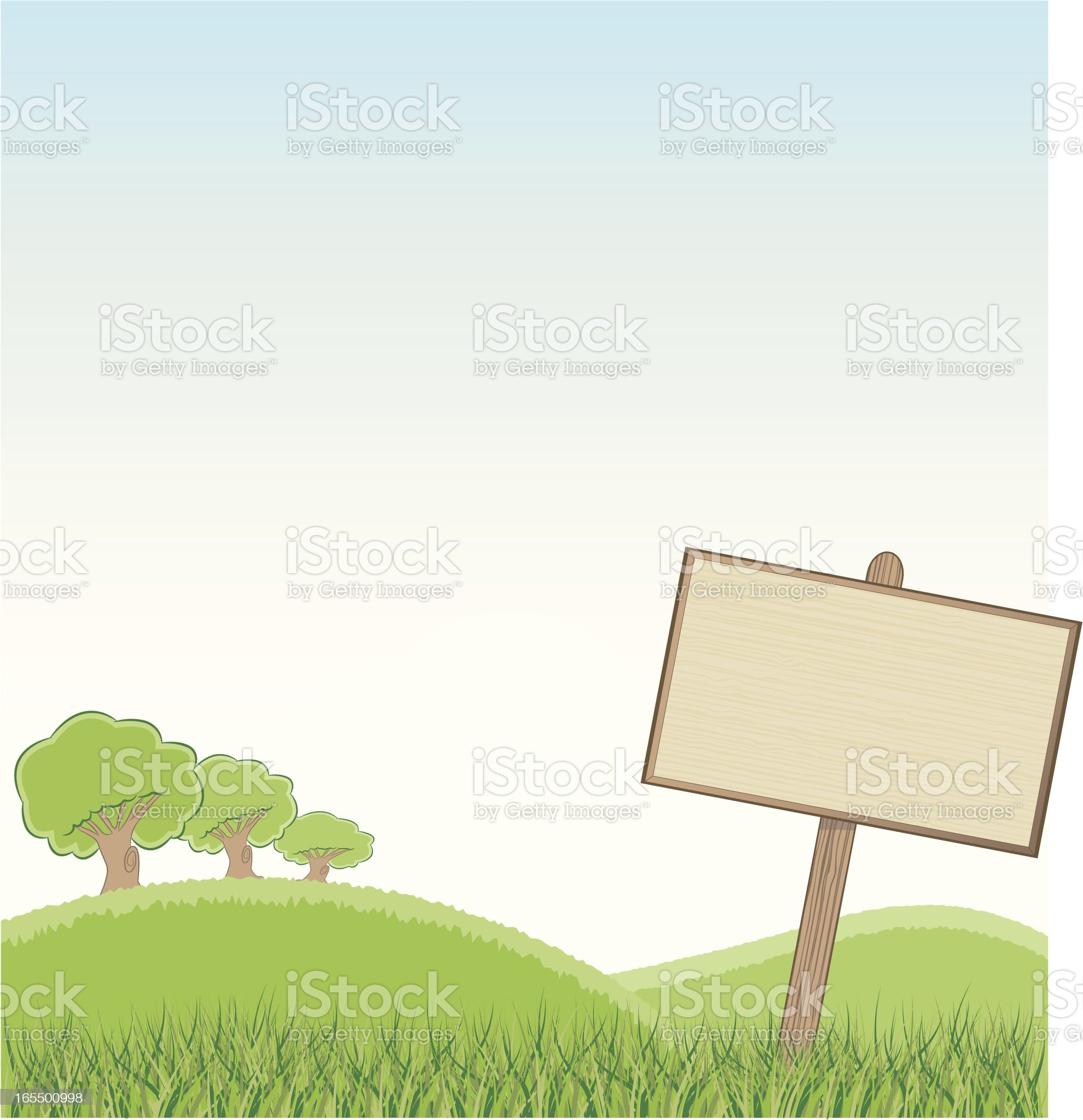 Blank Sign Background royalty-free stock vector art