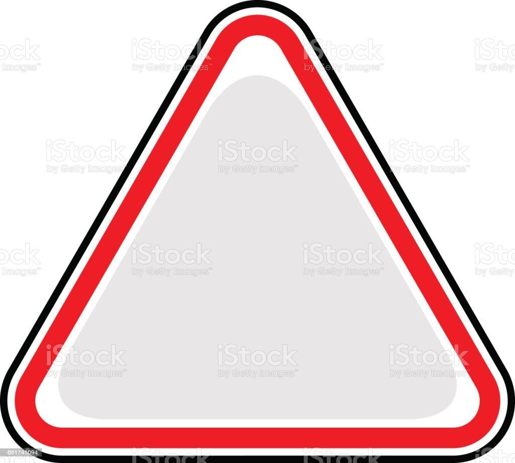 Blank Sign Triangular Sticker Icon vector art illustration
