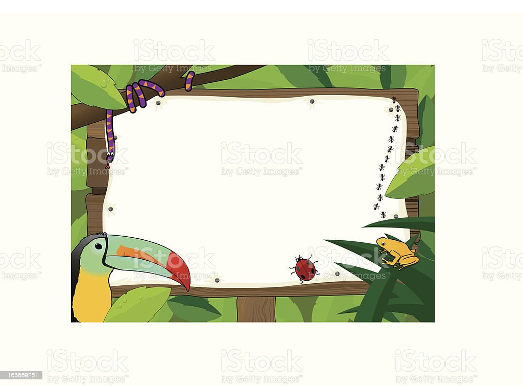 Blank sign with Zoo theme royalty-free stock vector art