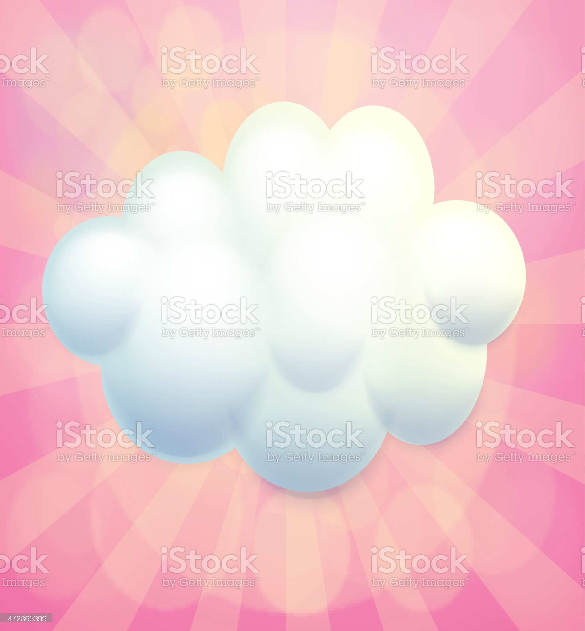 blank signage in a cloud form royalty-free stock vector art