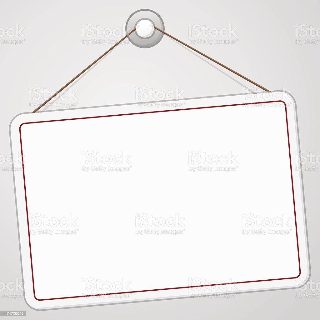 Blank Signboard royalty-free stock vector art