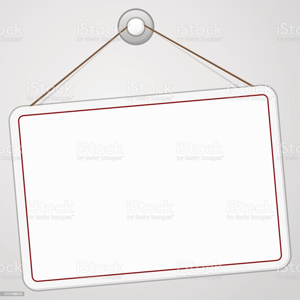 Blank Signboard vector art illustration