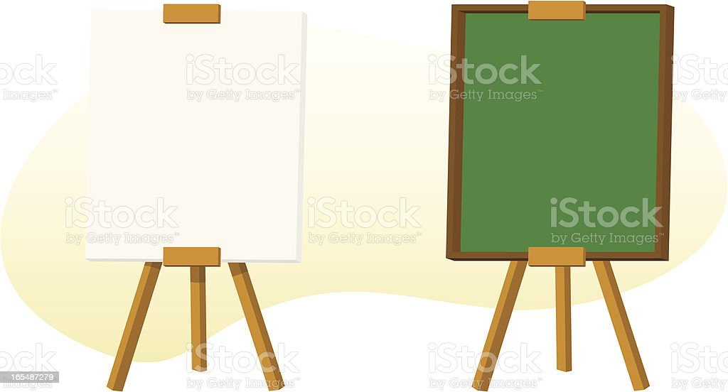 Blank Signs on Easels vector art illustration