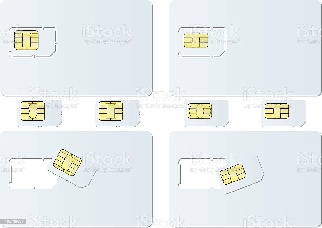 blank SIM card royalty-free stock vector art