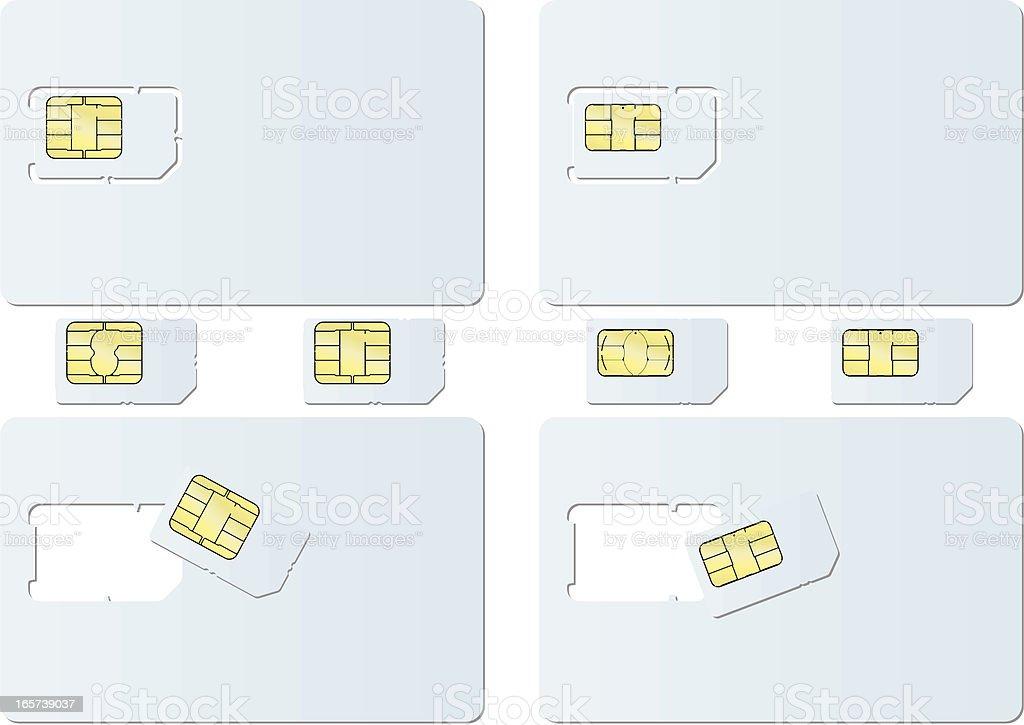 blank SIM card vector art illustration
