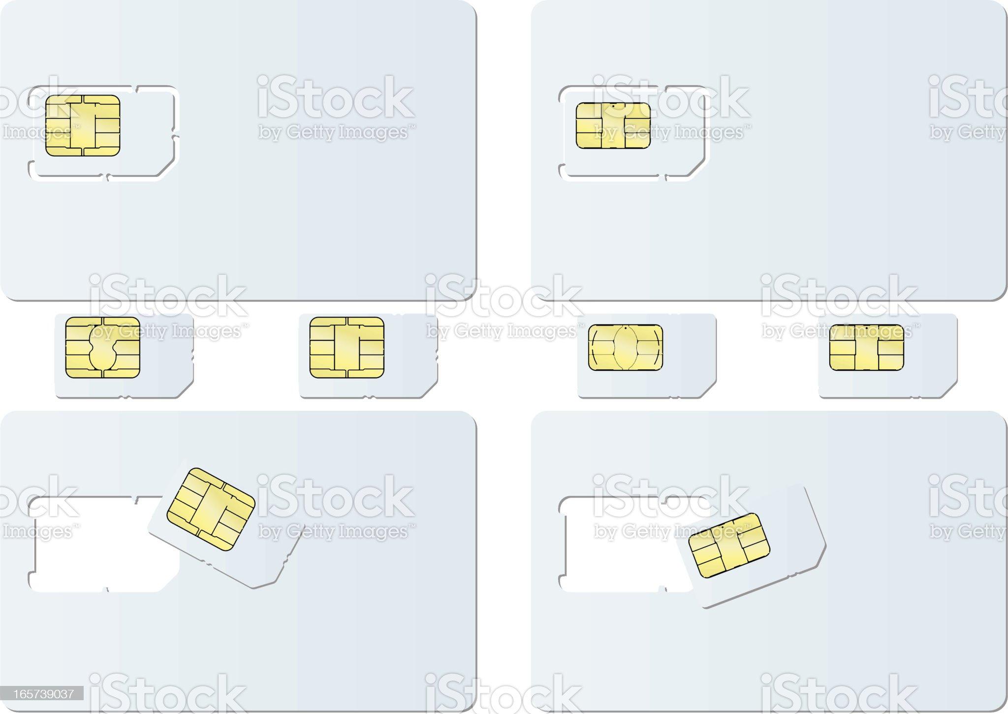 blank SIM card royalty-free stock vector art