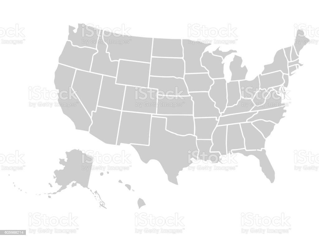 Blank Similar Usa Map Isolated On White Background United States - Free united states map graphic