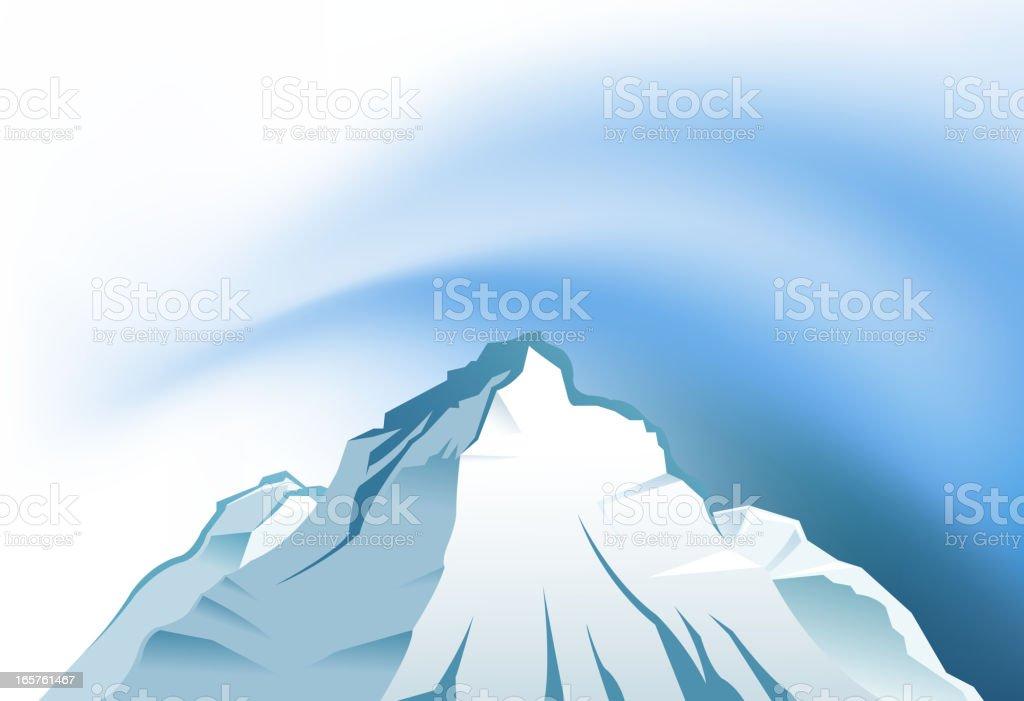 blank snowcapped vector art illustration