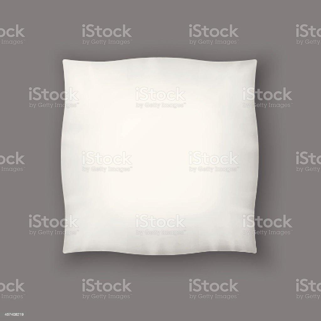 Blank Square White Pillow. Vector vector art illustration