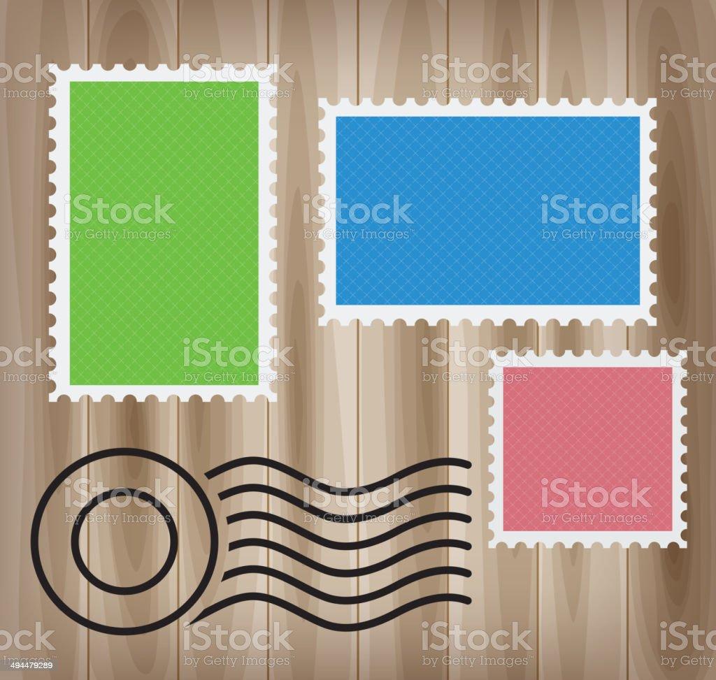 Blank stamps vector art illustration