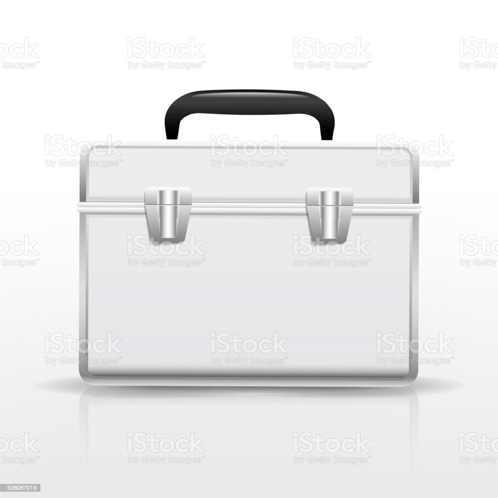 blank suitcase vector art illustration
