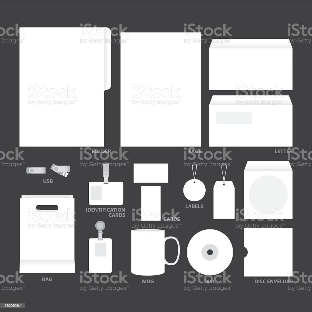 blank templates vector art illustration
