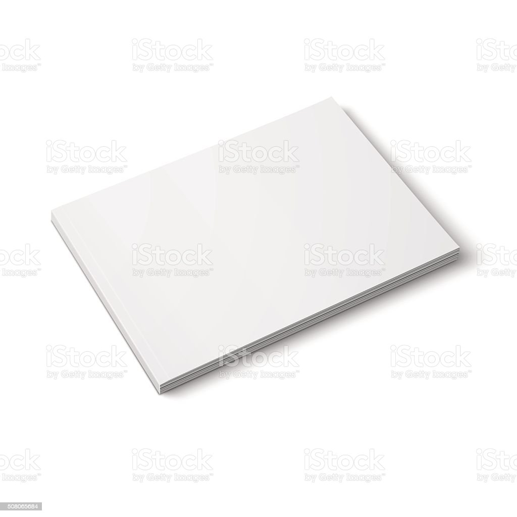 Blank thick magazine template. Wide format. vector art illustration