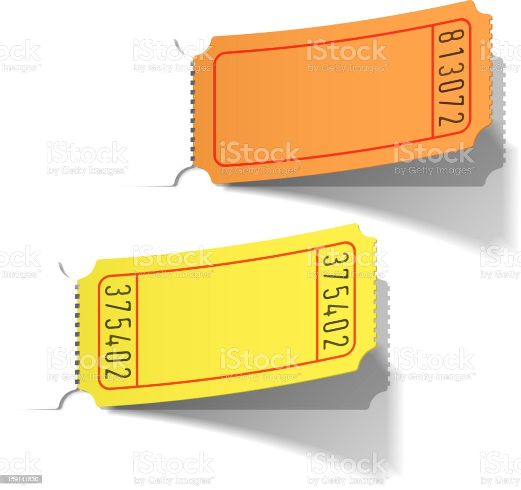 Blank tickets royalty-free stock vector art