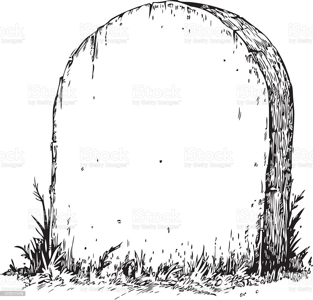 Blank Tombstone royalty-free stock vector art
