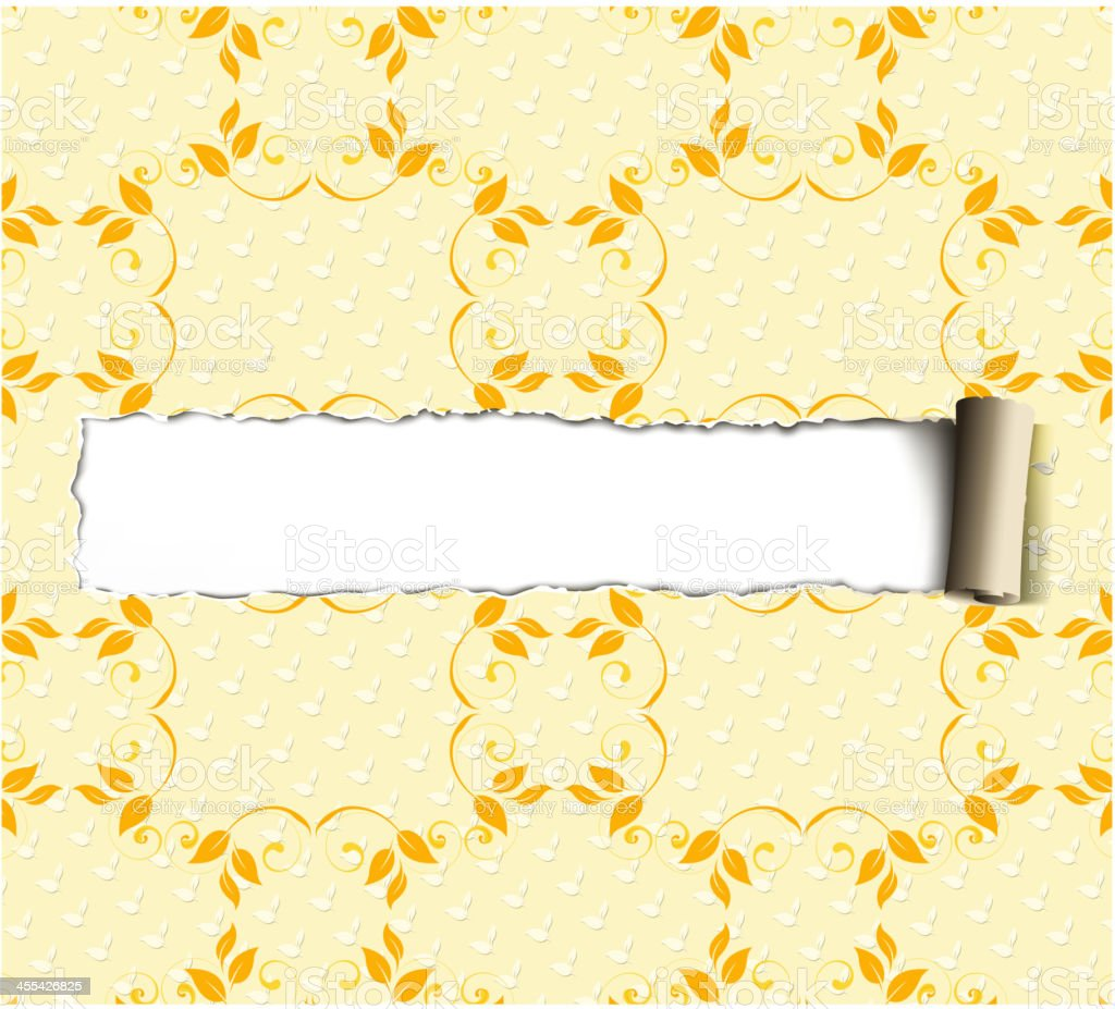 blank torn on textile royalty-free stock vector art