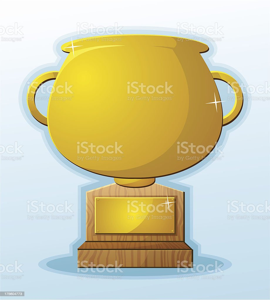 Blank Trophy Price Cartoon royalty-free stock vector art