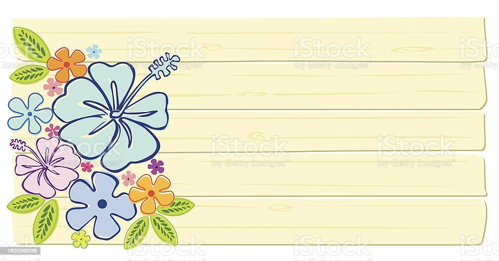 Blank Tropical Sign stock vector art 165598938 | iStock