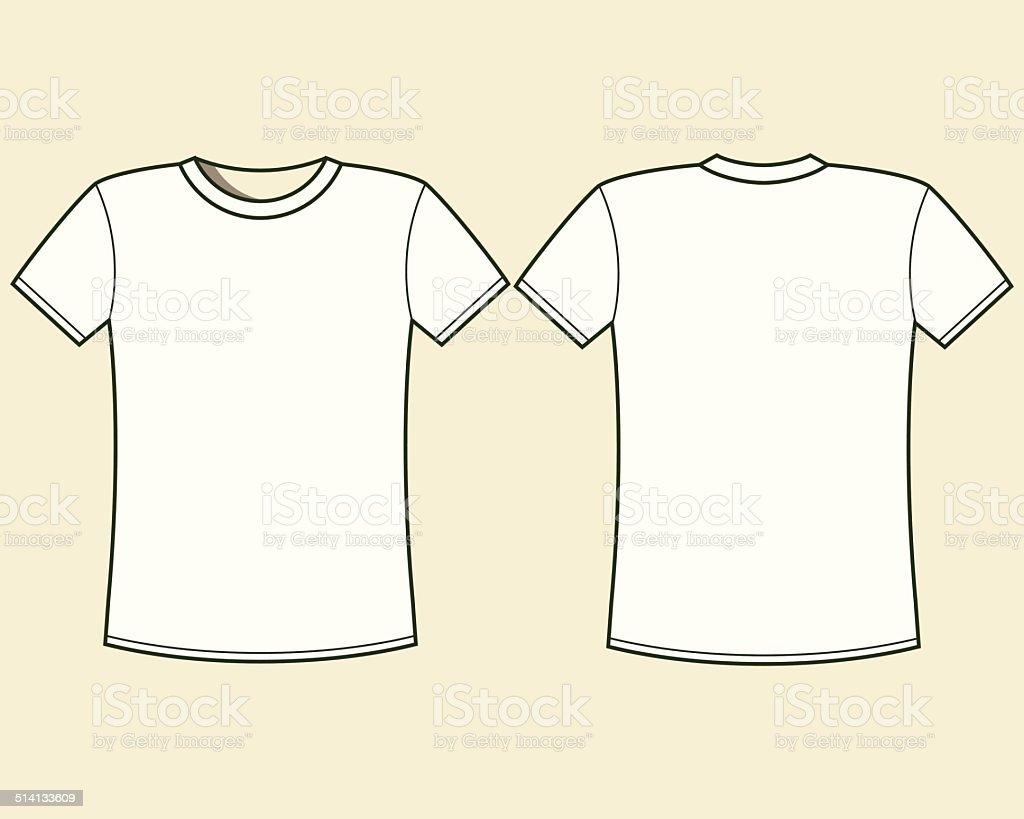 Blank t-shirt template vector art illustration