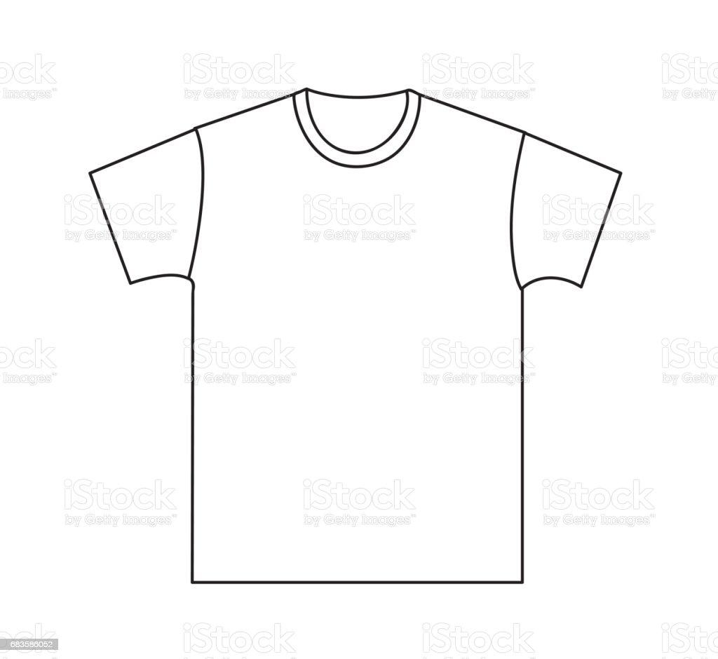Blank tshirt template stock vector art 683586052 istock for T shirt templates vector