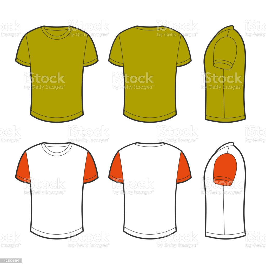 Blank t-shirt vector art illustration