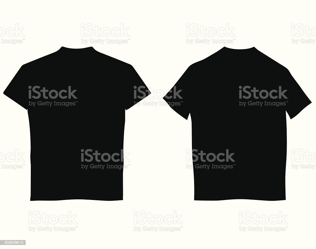 Blank T-shirts vector art illustration