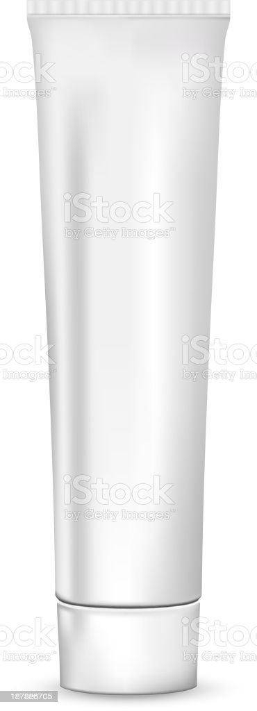 Blank tube vector art illustration