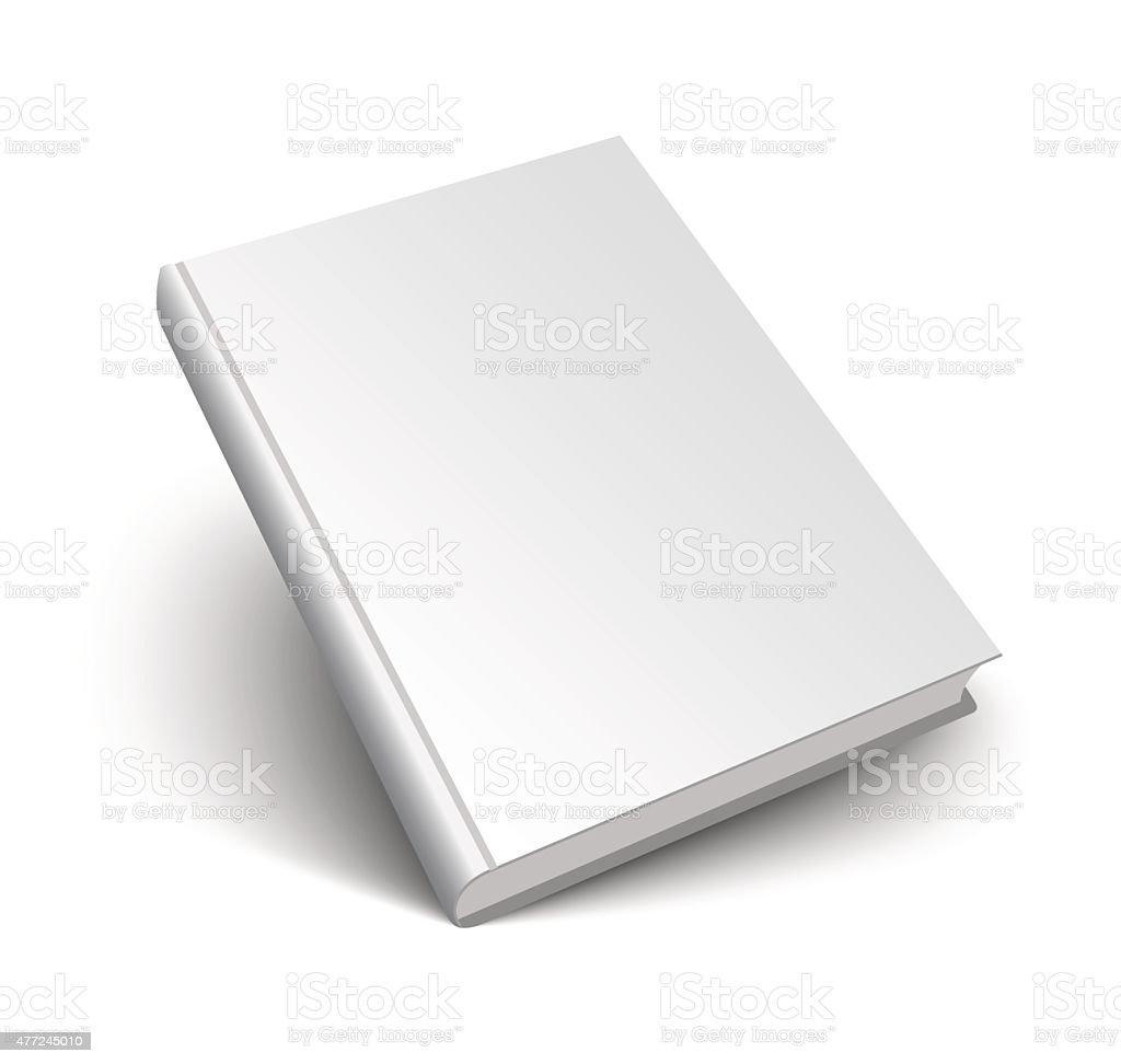 blank vector book on white vector art illustration