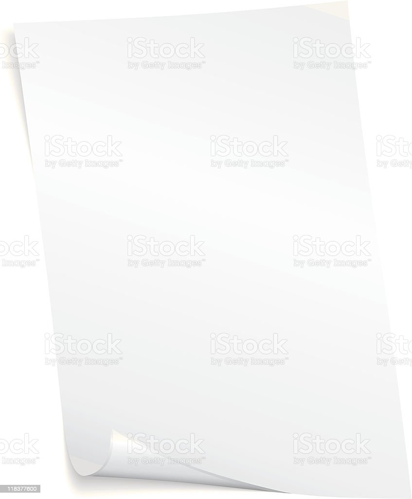 Blank vector page royalty-free stock vector art