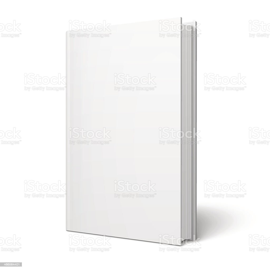 Blank vertical book template. vector art illustration