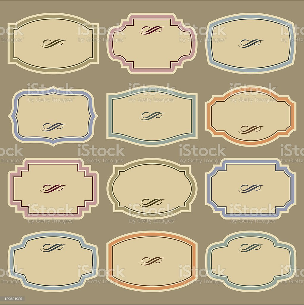 blank vintage labels set (vector) royalty-free stock vector art