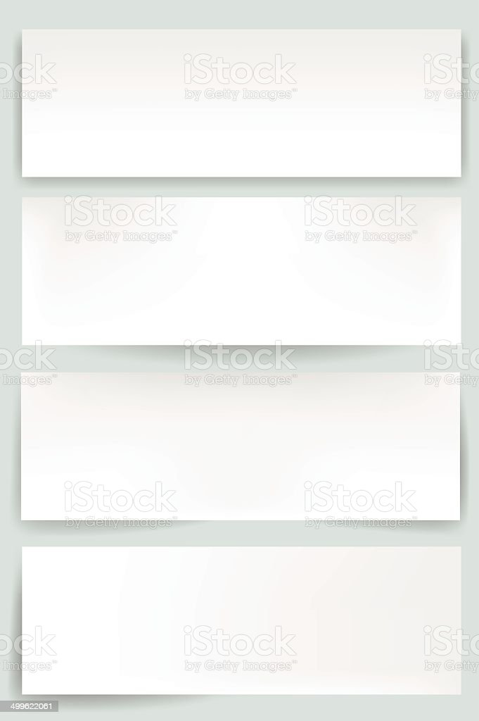 Blank web banners with editable mesh vector art illustration