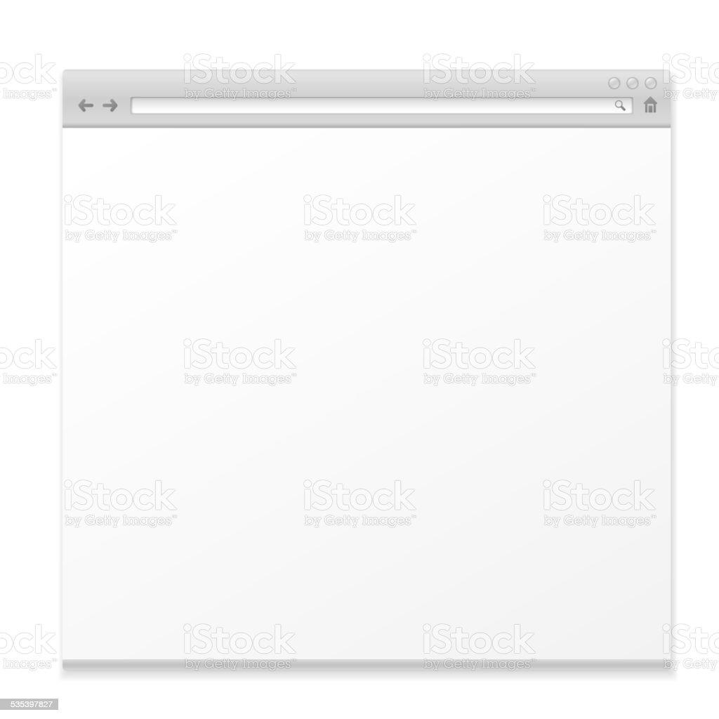 blank web page vector art illustration
