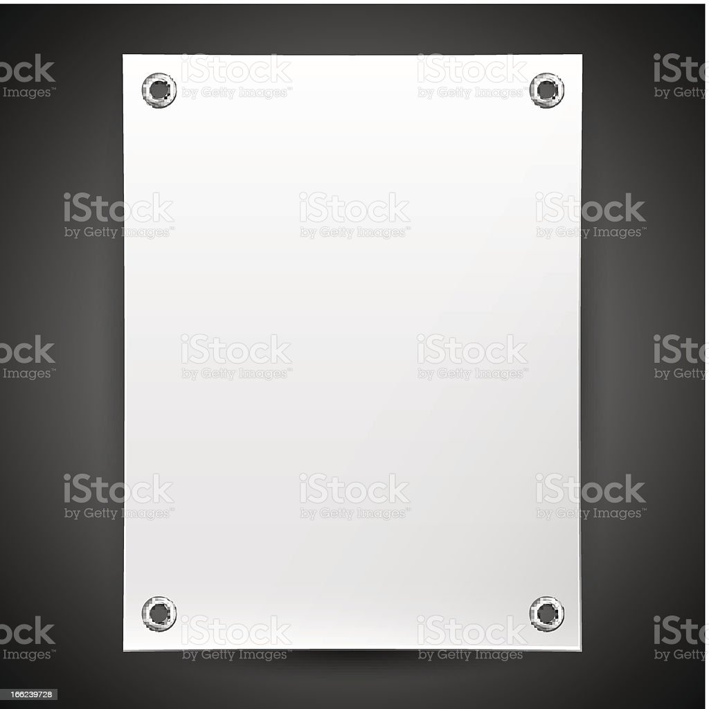Blank white banner painted in the vector royalty-free stock vector art
