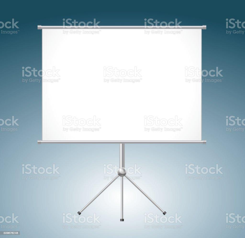 Blank white board vector art illustration