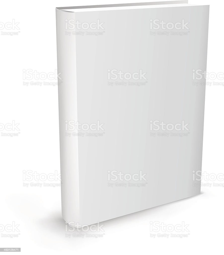 Blank white book isolated on white background vector art illustration