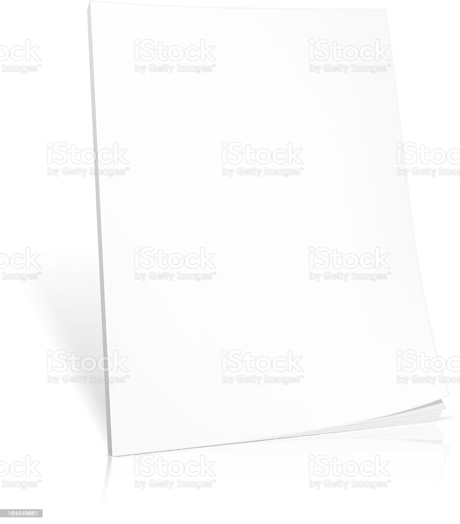 Blank white book on a white background  vector art illustration