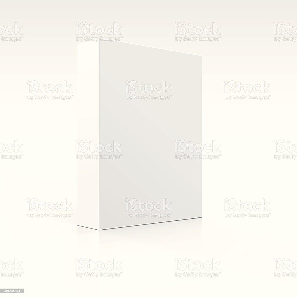 Blank white box isolated on white background vector art illustration
