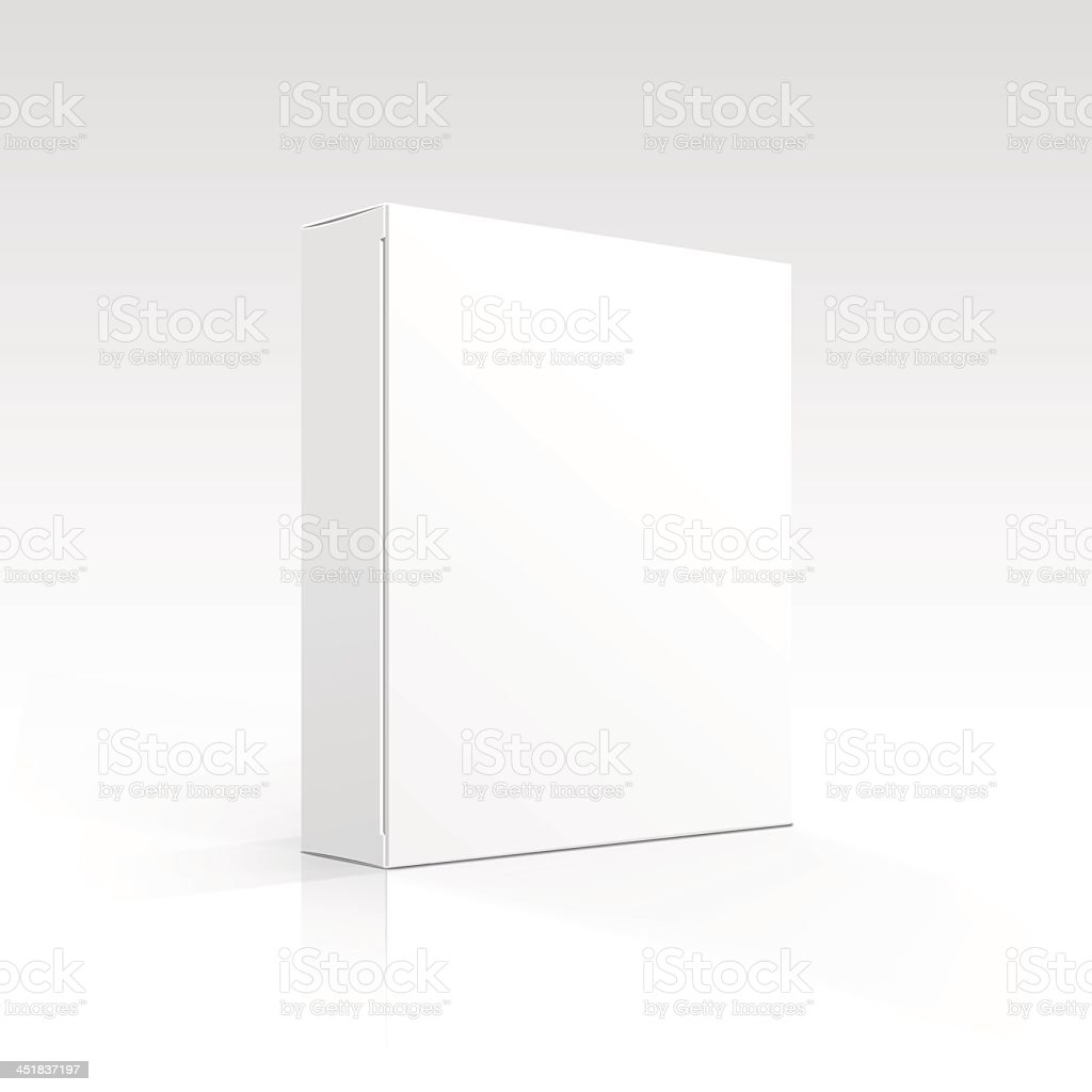A blank, white box on a white background vector art illustration