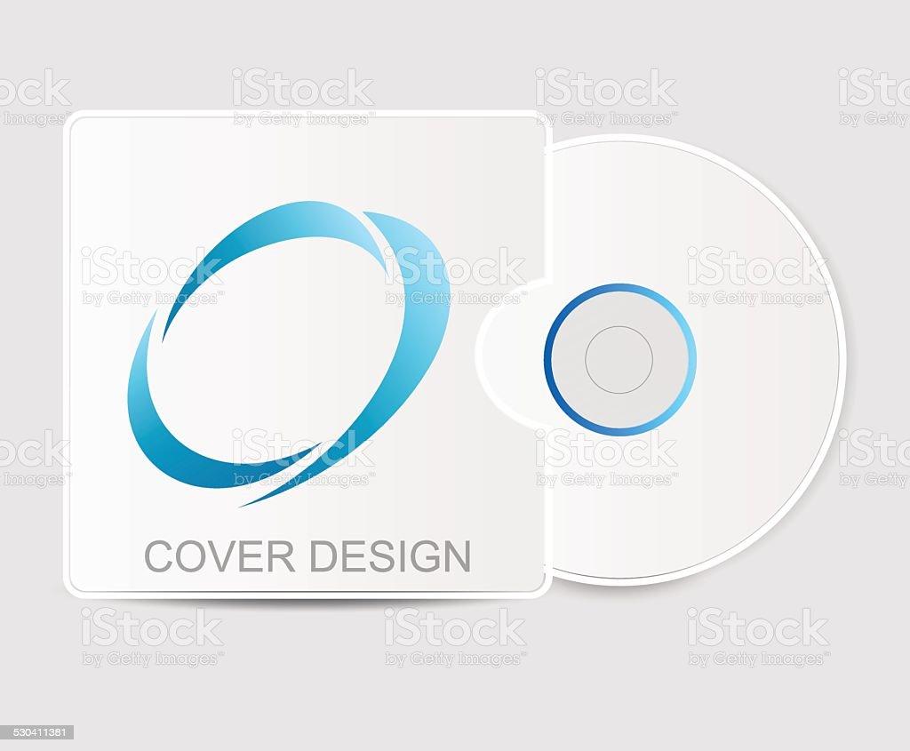Blank white compact disk vector art illustration
