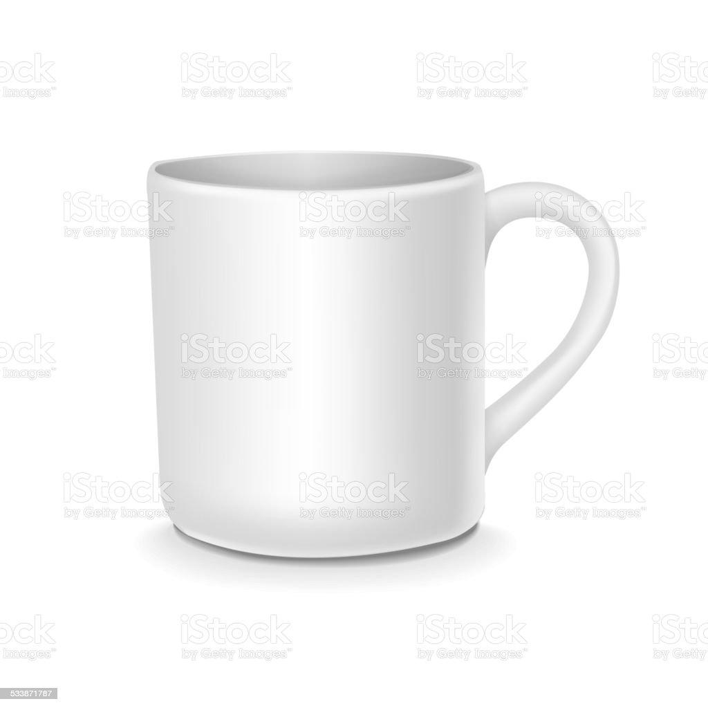 blank white cup vector art illustration