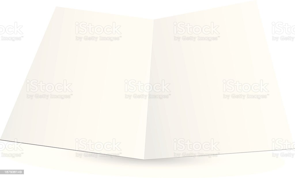 Blank white folded paper set royalty-free stock vector art