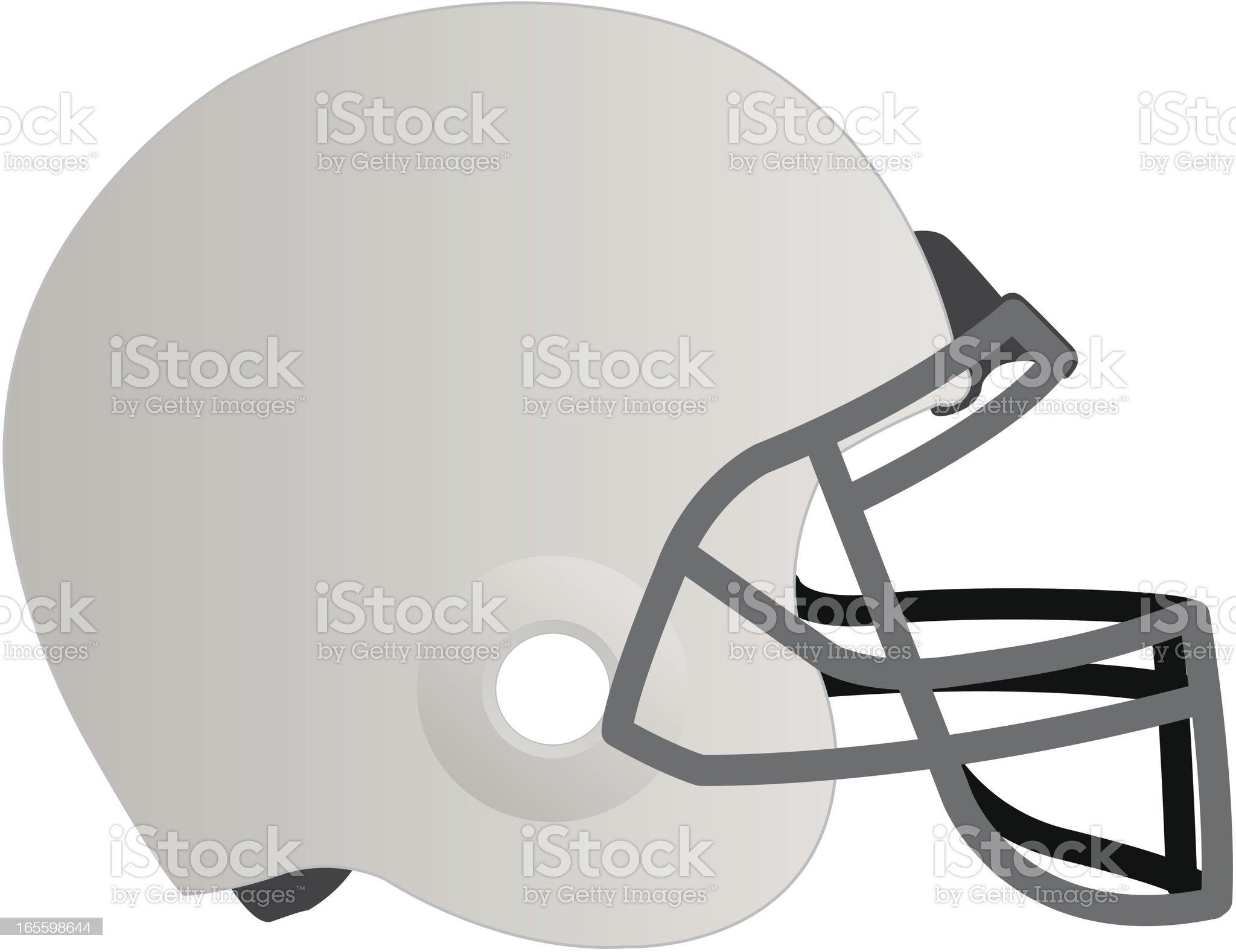 Blank white football helmet isolated in white royalty-free stock vector art
