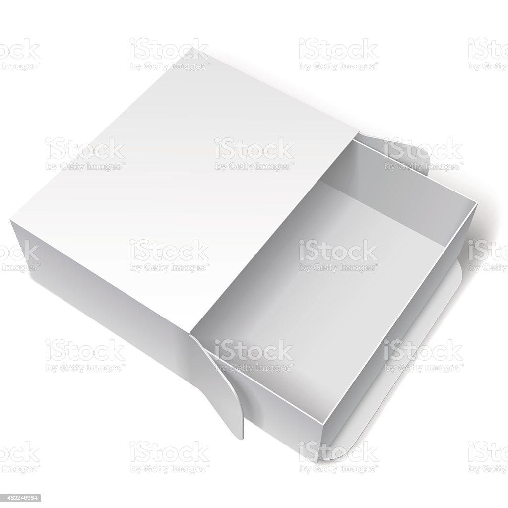Blank White Package Box vector art illustration