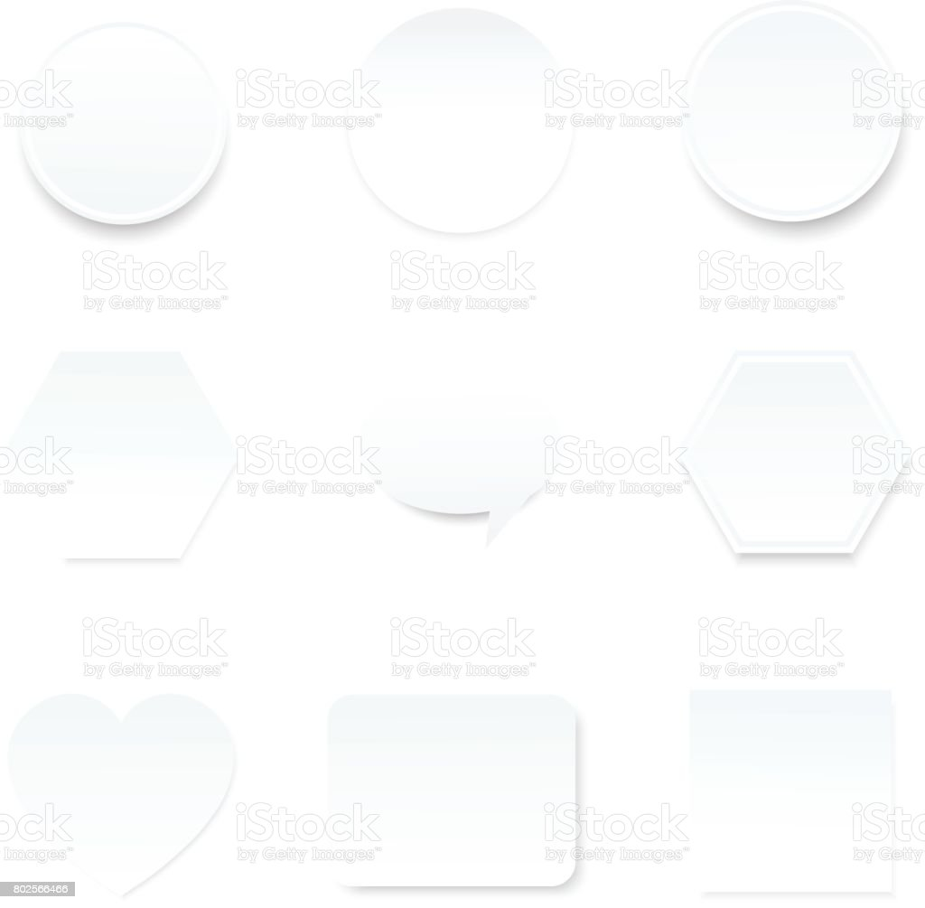 blank white paper note  for infographic background vector art illustration