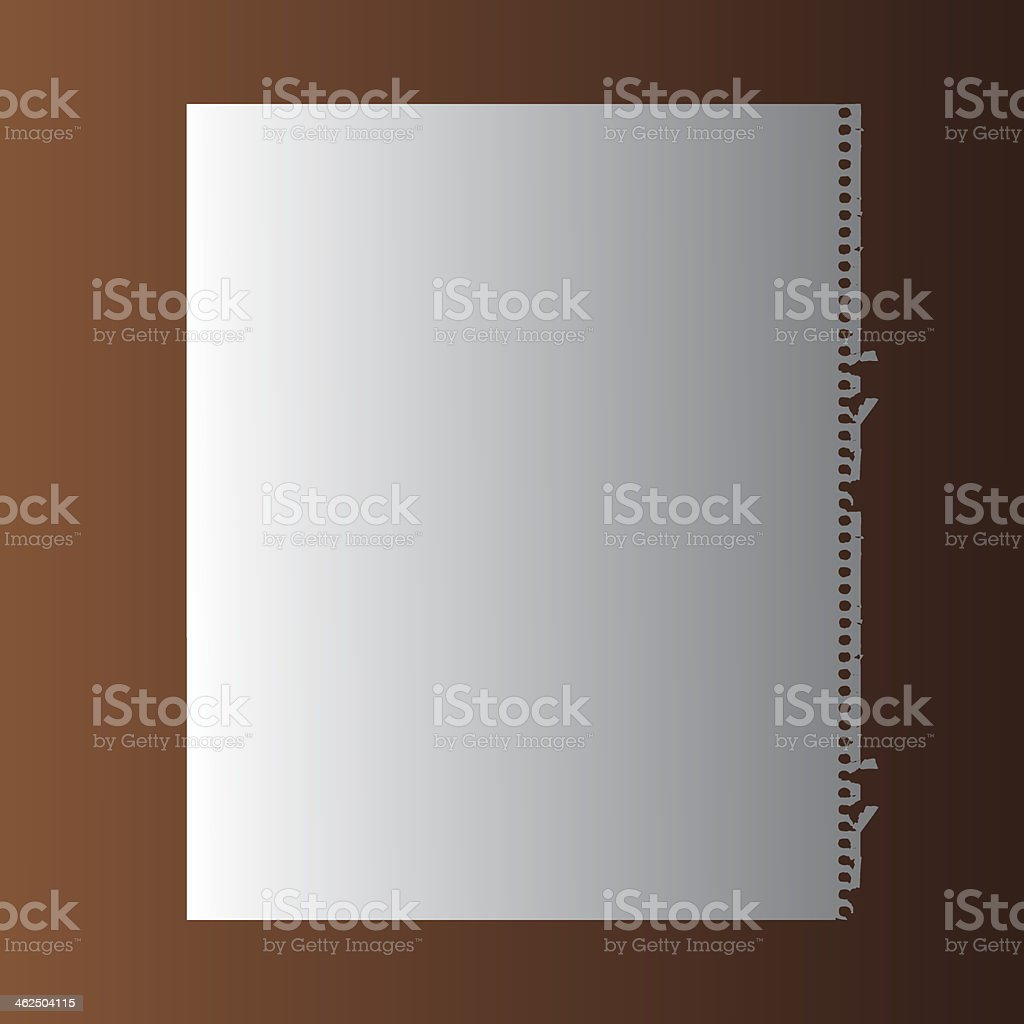 blank white paper royalty-free stock vector art