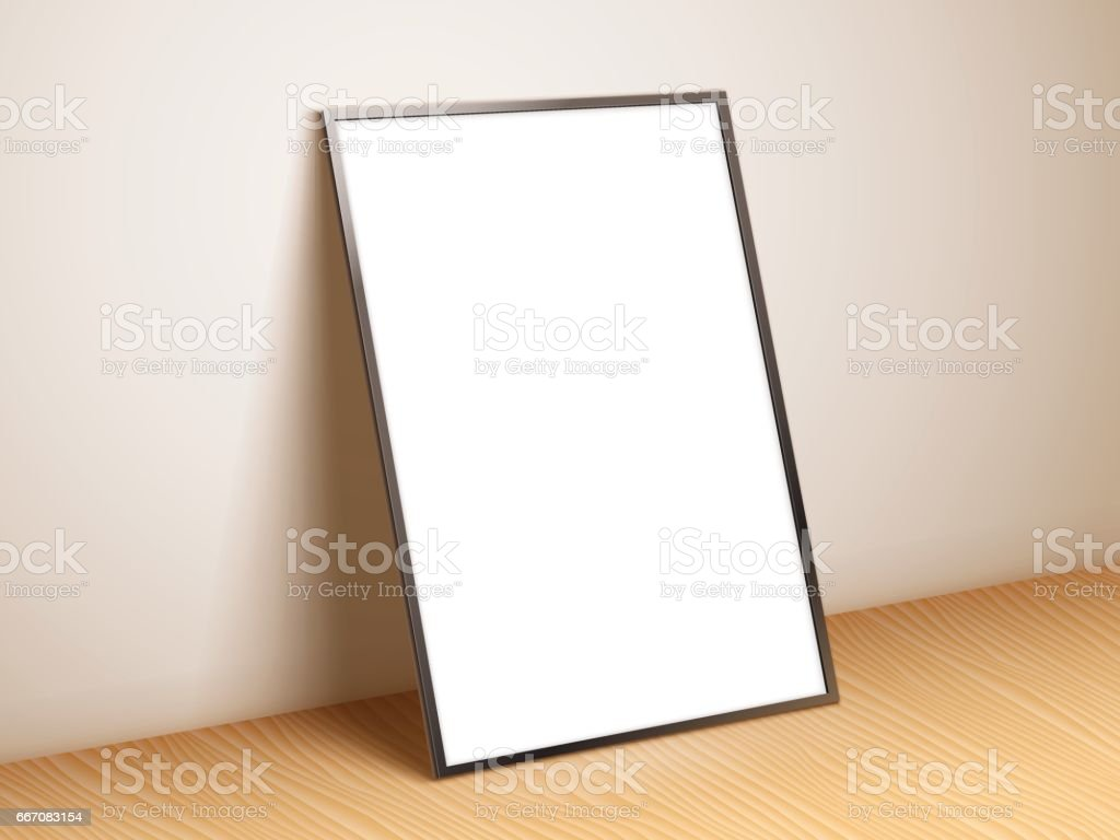 Blank White Poster Template vector art illustration