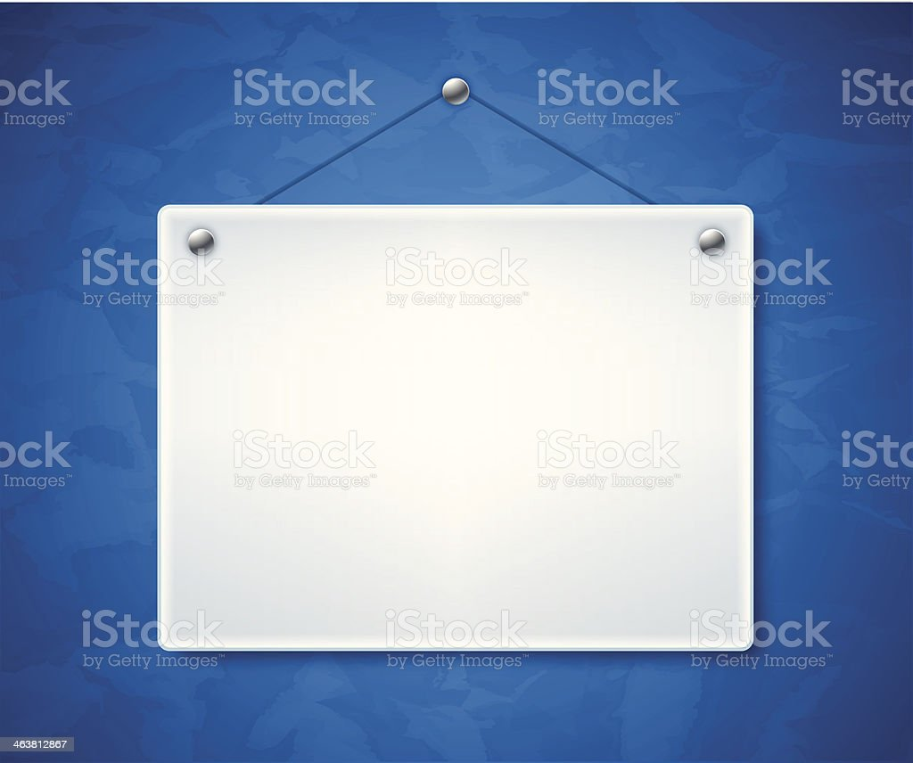 Blank White Sign vector art illustration