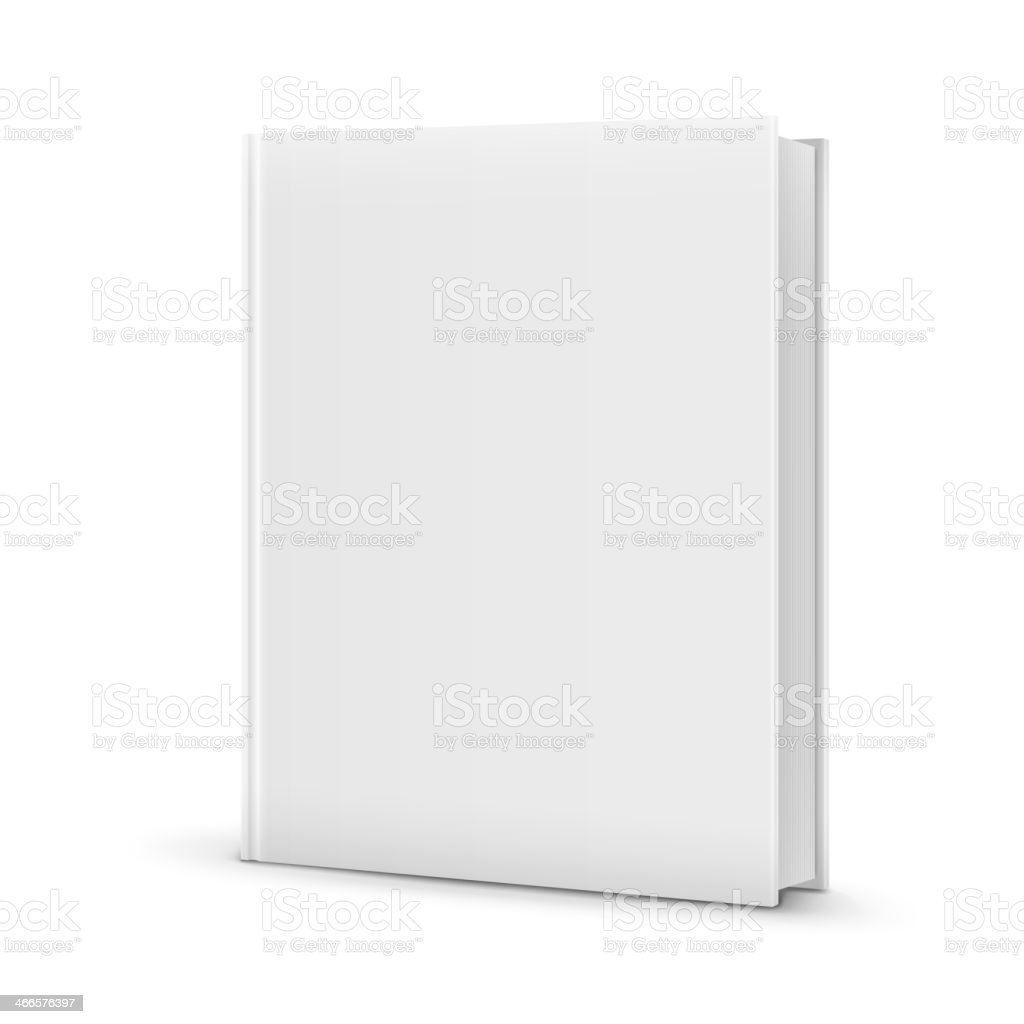 Blank White Standing Book Template. vector art illustration